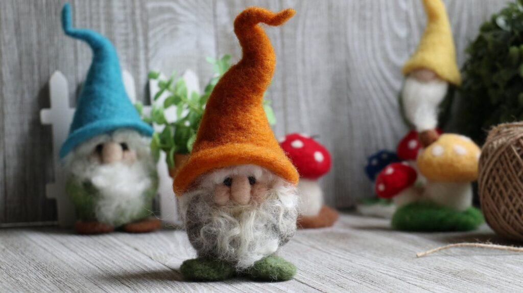 gnome needle felting kit